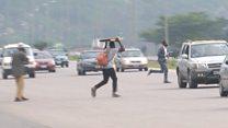 Yadda mutane suke rige-rige da motoci a Abuja