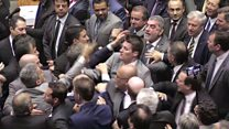 Chaos in Brazil Congress