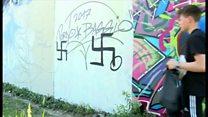 ベルリンの学生たち、画才でネオナチに対抗