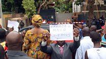 Manifestation contre la France au Mali