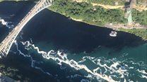 Who turned the Niagara River black?
