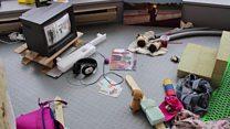 Children create gallery installation