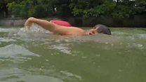 ชายในเยอรมนีว่ายน้ำ 2 กม.ไปทำงาน