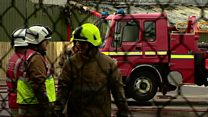 Firefighters at work after Brechin blaze
