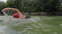 اگر دفتر جانے میں جلدی تو دریا میں تیر کی جائیں