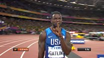 Gaitlin wins 100m gold as Bolt finishes third
