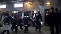 Russian miner rescued from diamond mine