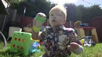 Amputee toddler 'strongest boy in world'