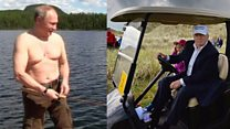Would you holiday like Trump or Putin?