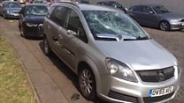 Dozens of cars smashed in damage spree