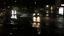 Heavy overnight rain causing flooding in northern Lincolnshire