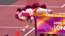 Hurdle proves too much for mascot Hero