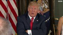 """دونالد ترامب: سنواجه كوريا بـ """"النار والغضب""""."""