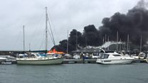 Sunseeker yacht destroyed by fire