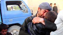 فرار غیرنظامیان از منطقه میرزا اولنگ