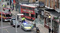 Watch: Footage from bus crash in Wandsworth