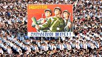 Kuzey Kore'de protesto