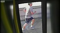 Jogger 'pushed' woman in front of bus