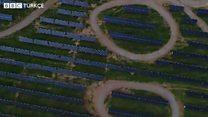 Panda şeklinde güneş enerjili elektrik santrali
