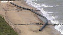 Boru hattı kıyıya vurdu