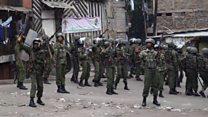 Kenya election: Clashes in Nairobi slum