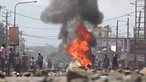 Kenya election: Uneasy calm in Kisumu