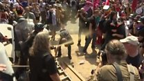 Police and protesters clash in Charlottesville