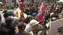 Supremacistas brancos e grupos antirracismo entram em confronto nos EUA