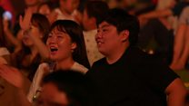 Korean border concert draws thousands