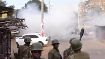 Police fire teargas at Odinga's supporters