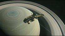 نزدیک شدن کاوشگر فضایی کاسینی Cassini به جو زحل