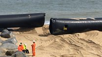 Recovery of giant pipes begins