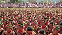 印尼万人共舞沙曼创历史纪录