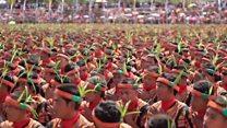Танец тысячи рук: индонезийцы установили рекорд