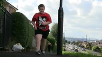 Boy, 8, takes on marathon fundraiser