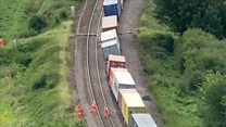 Derailed freight train chaos continues