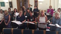 A staff choir has been set up at the Royal Cornwall Hospital