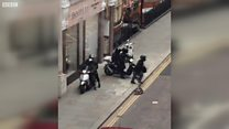 Moped raiders smash into jewellers