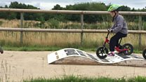 Toddlers learn from BMX champion