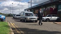 Forty Minis join funeral cortege