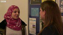 Former refugee celebrates A-level results