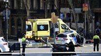 Eyewitness describes Barcelona van attack