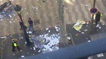 """Primeras imágenes del """"atentado"""" en Las Ramblas de Barcelona"""