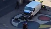 White van surrounded after attack