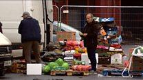 Traders back at fire-damaged Glasgow market