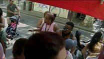 CCTV shows speeding Barcelona van