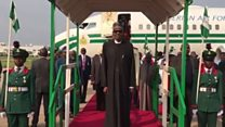 President Buhari don return