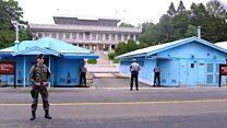 米韓が合同軍事演習 非武装地帯を守る将校たち