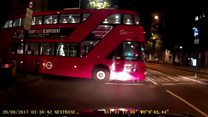 Watch: London bus moves forward without driver