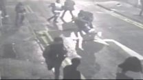 CCTV shows fatal stabbing in Leicester
